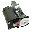 Main drive unit with wormgear and gearmotor (complete drive unit) SM34 family with steel base holder for hour angle axis