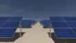 Solar Tracker STL36 single axis in line for 36 solar panels with pillars