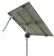 Solar Tracker 1-axis ST40M2V2P w backstr. for 2 pan. / 0122 / ST40M2V2P, without main pole and ground screws.