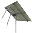 Solar Tracker 2-axis ST44M2V2P w backstr. for 2 pan. / 0124 / ST44M2V2P, without main pole and ground screws.