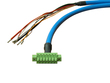 Int. Cable SM4M3 w con 7pins-OPEN, L=7m 2x1+6x0.22